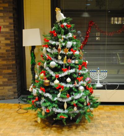 late Christmas tree