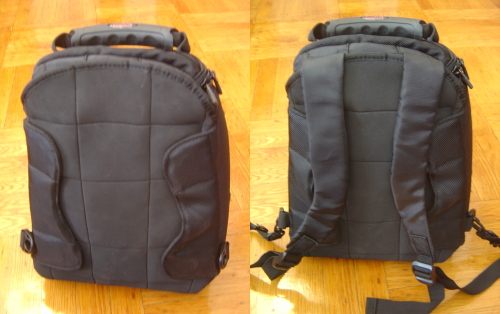 [tank bag with backpack straps in versus out]