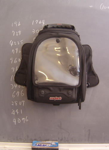 [tank bag climbing blackboard!]
