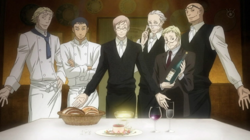 [Old Gentlemen with Reading Glasses in Ristorante Paradiso]