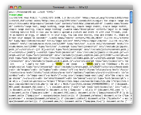 [finding strings with ack command in mac terminal]